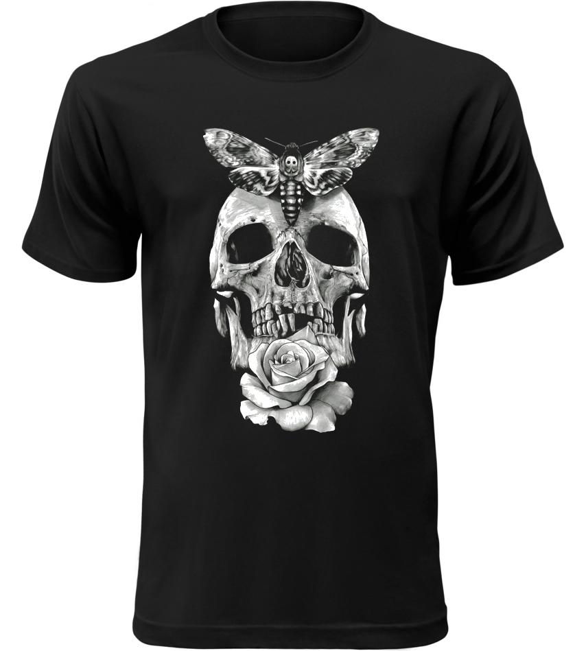 Pánské motorkářské tričko Smrtihlav