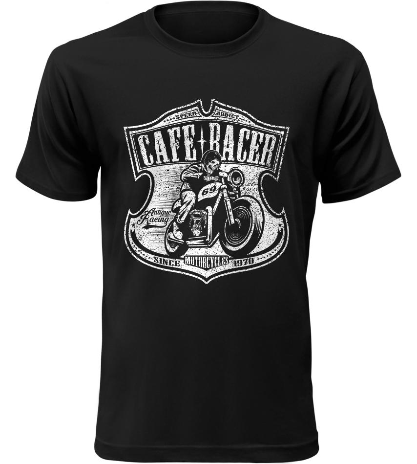 Pánské motorkářské tričko Cafe Racer 69 černé  a1768e4daa