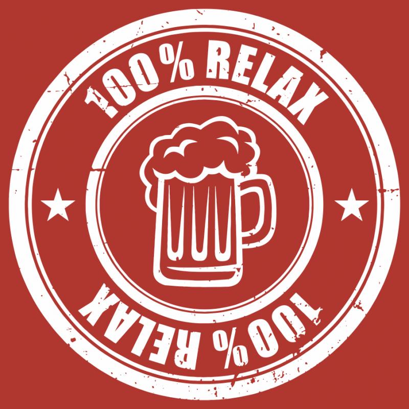 100% Relax BEER červené tričko pánské
