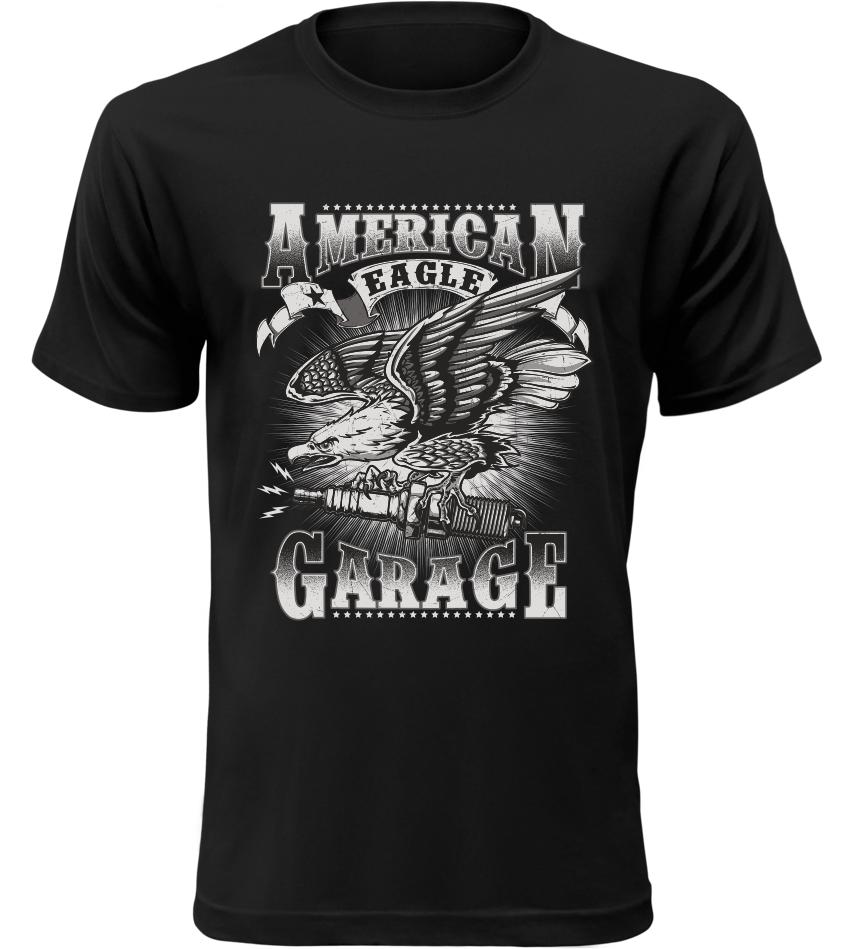 ab413cfe3e15 Pánské motorkářské tričko American Garage černé