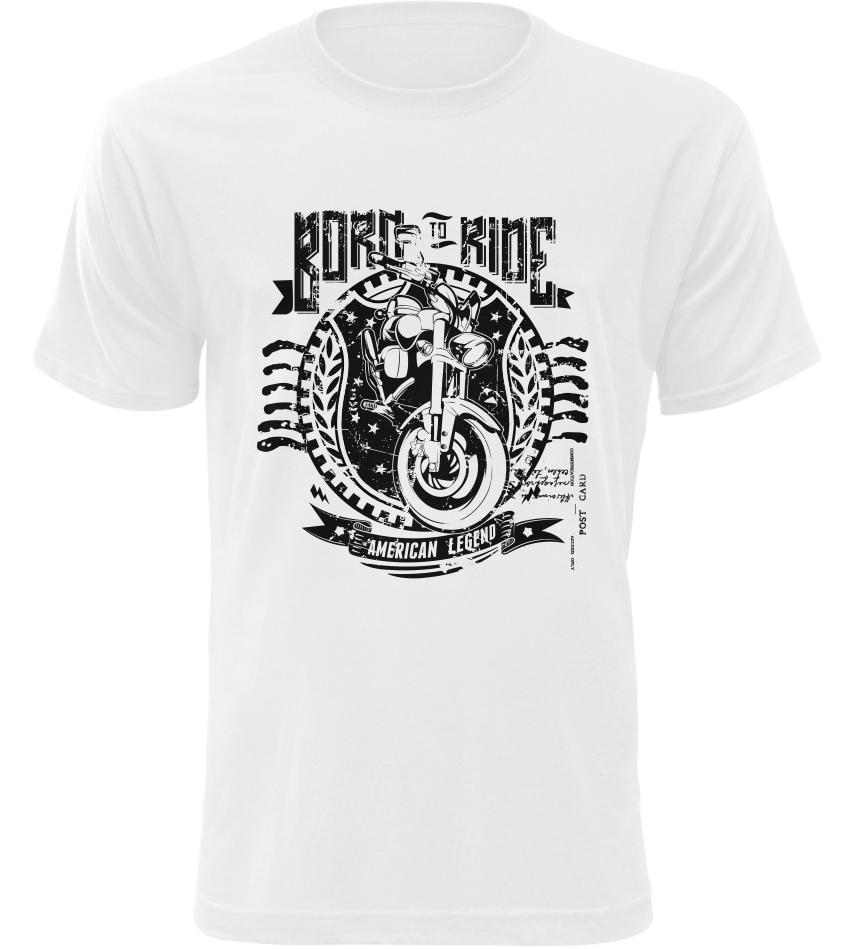 Pánské motorkářské triko American Legend bílé