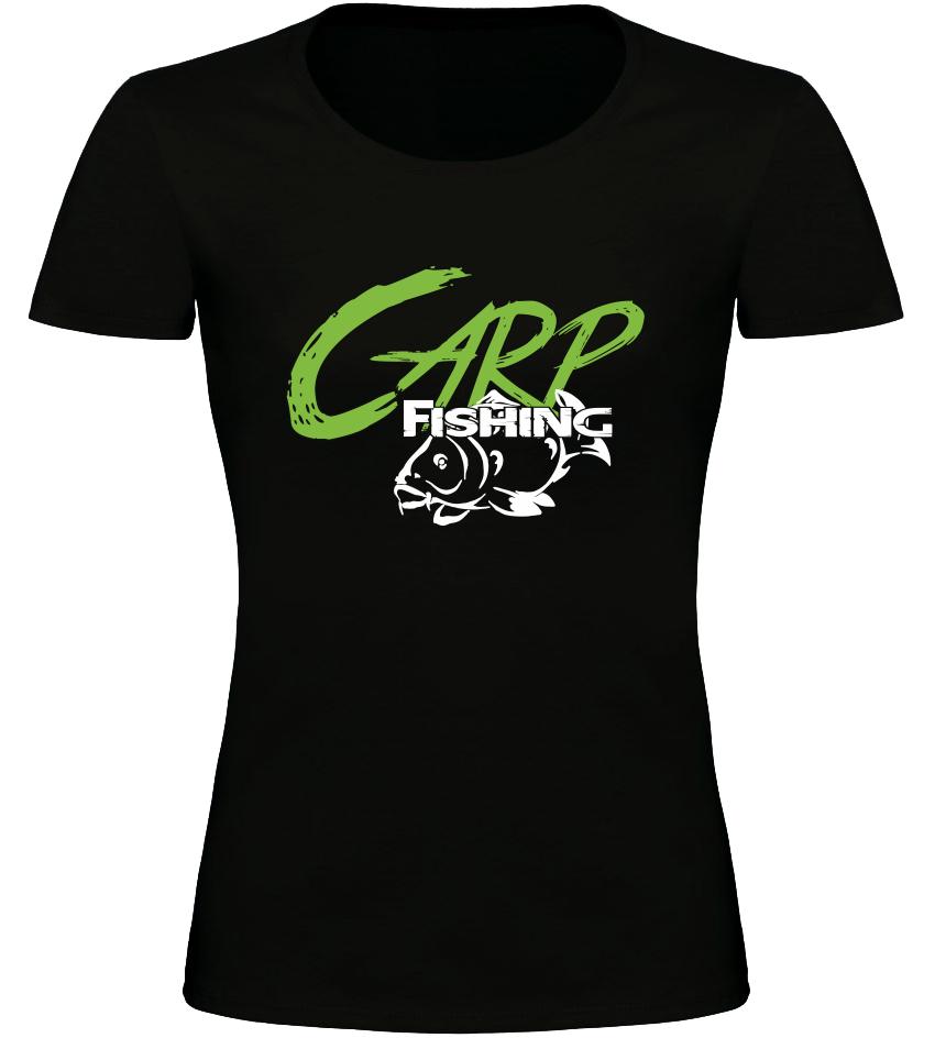 Dámské rybářské tričko Carp Fishing černé