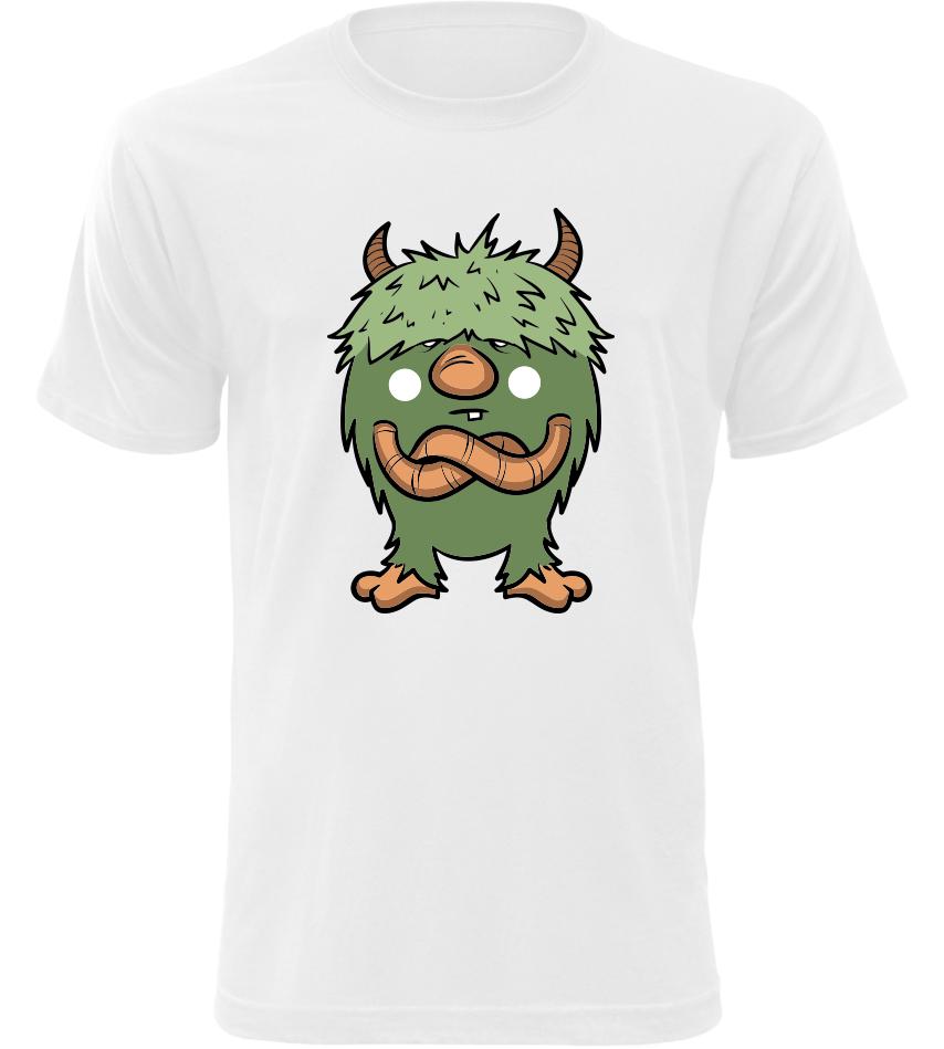 Pánské tričko Zelený Čertík bílé