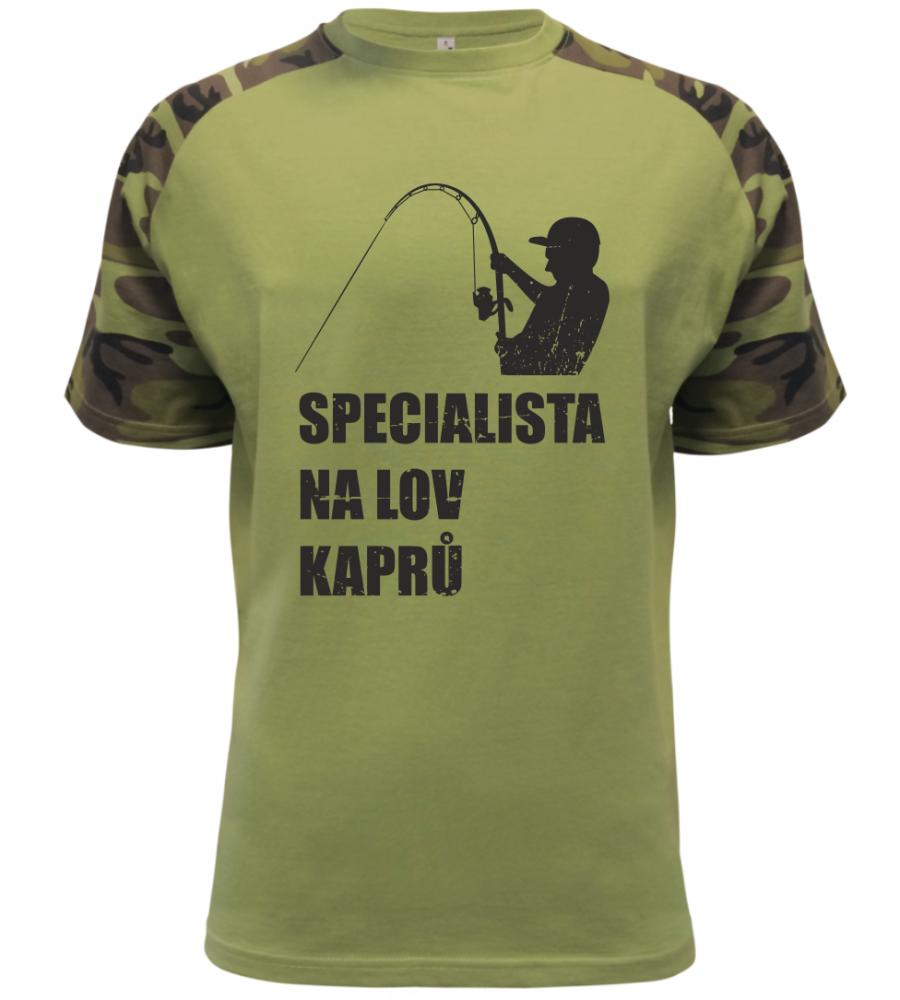 Pánské rybářské tričko Specialista na kapry military