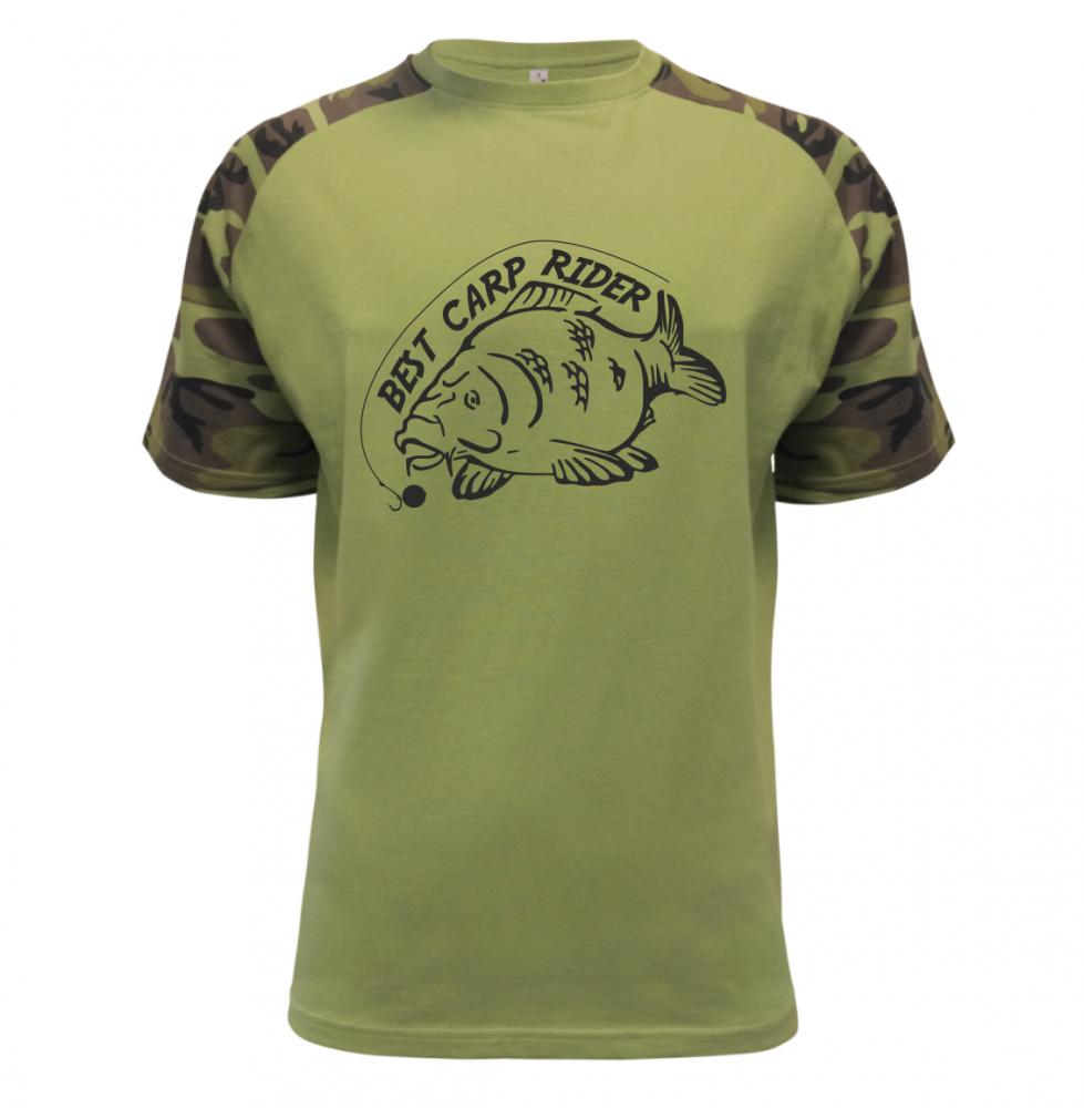Pánské rybářské tričko Best Carp Rider military