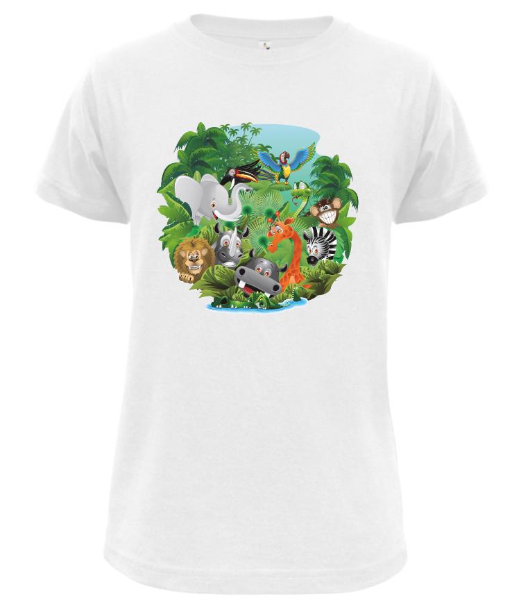 Dětské tričko Safari bílé