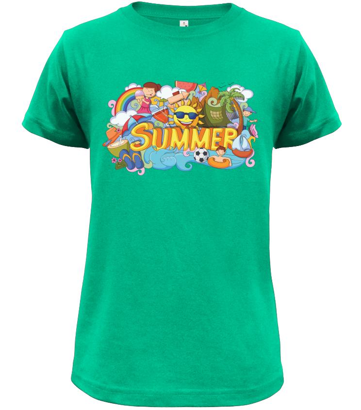 Dětské tričko Summer zelené