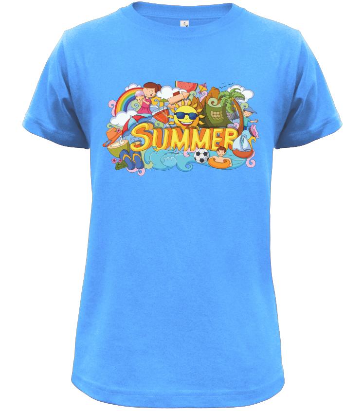 Dětské tričko Summer světle modré