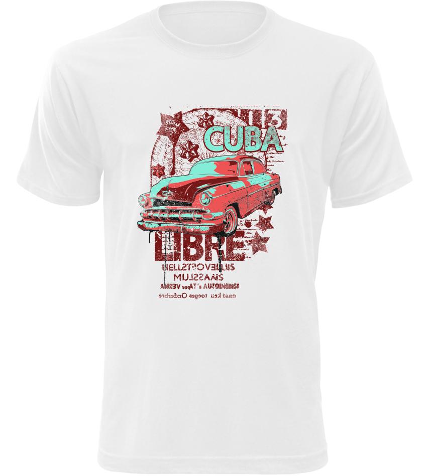 Pánské tričko Cuba Libre bílé