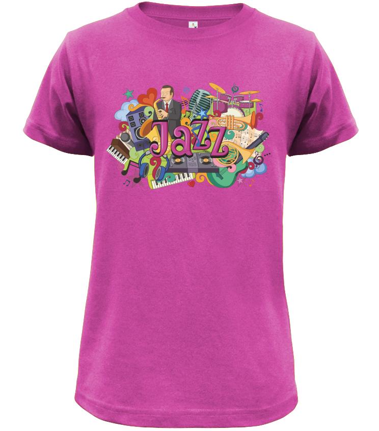 Dětské tričko Jazz fialové