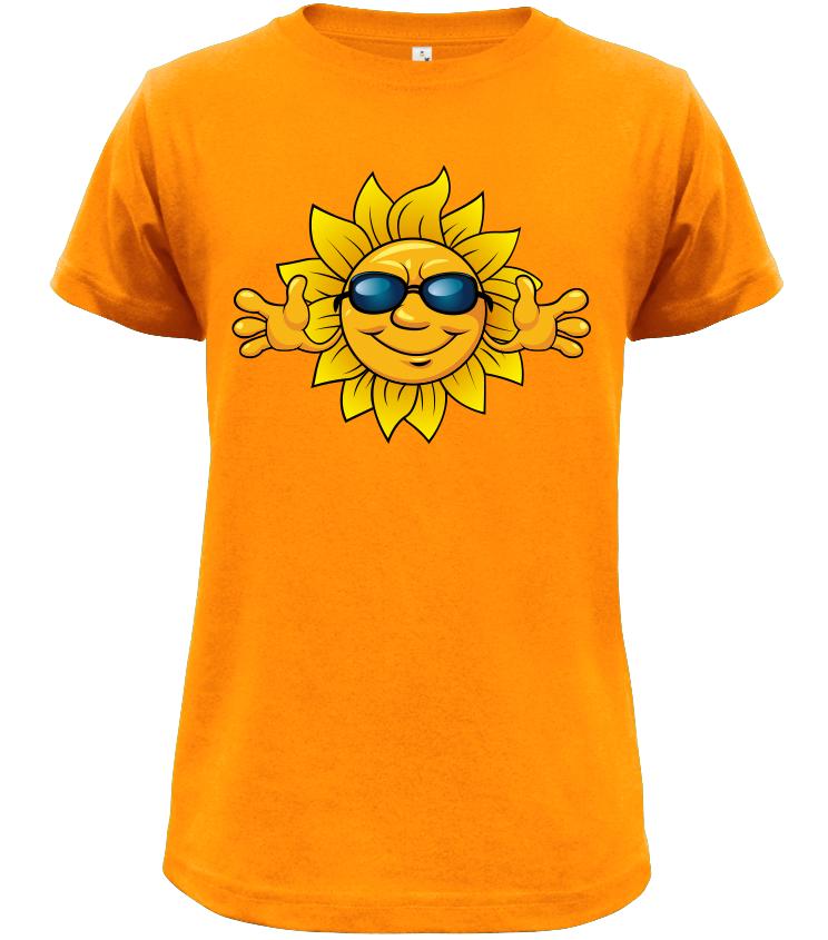 3daed350263 Dětské tričko se sluníčkem oranžové