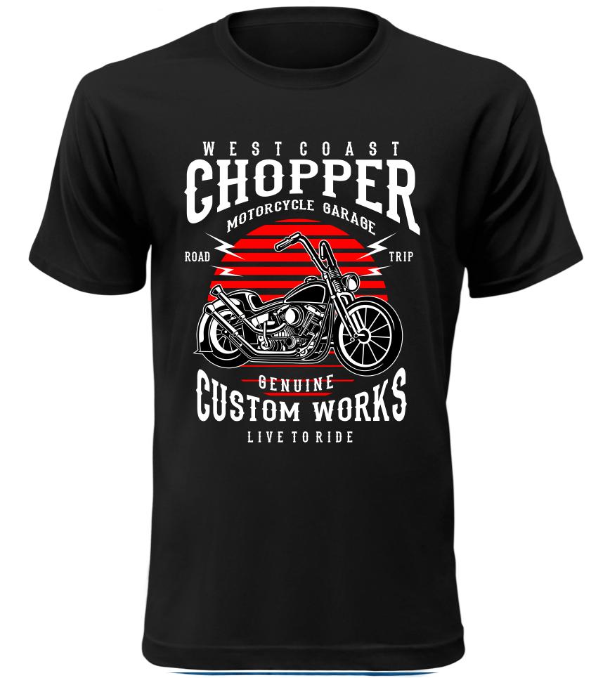 Pánské motorkářské tričko Westcoast Chopper černé