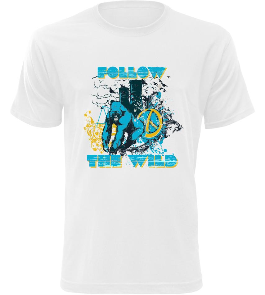 Pánské triko Follow The Wild bílé