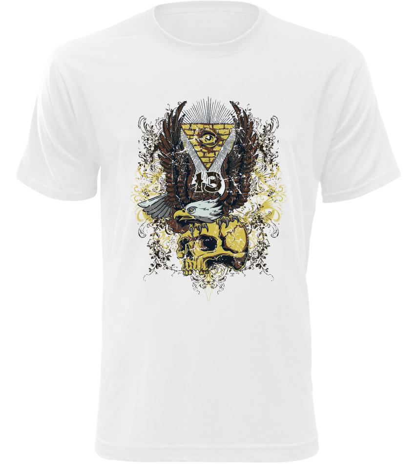 Pánské tričko s motivem 13 bílé