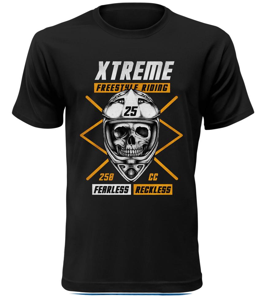 Pánské motorkářské tričko Xtreme Freestyle Riding černé