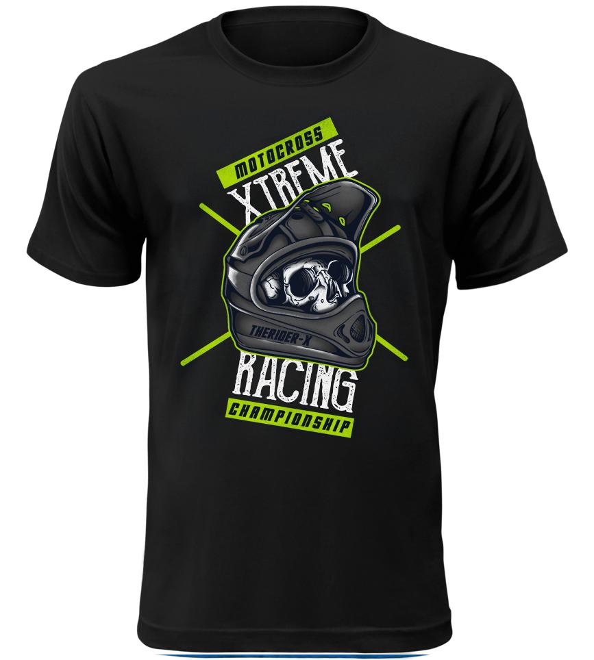Pánské motorkářské tričko Motocross Xtreme Racing černé  d699a15eab