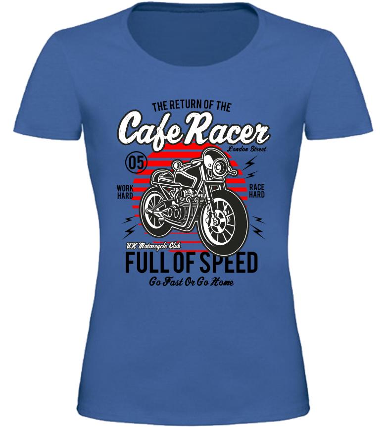 Dámské motorkářské tričko Full of Speed modré