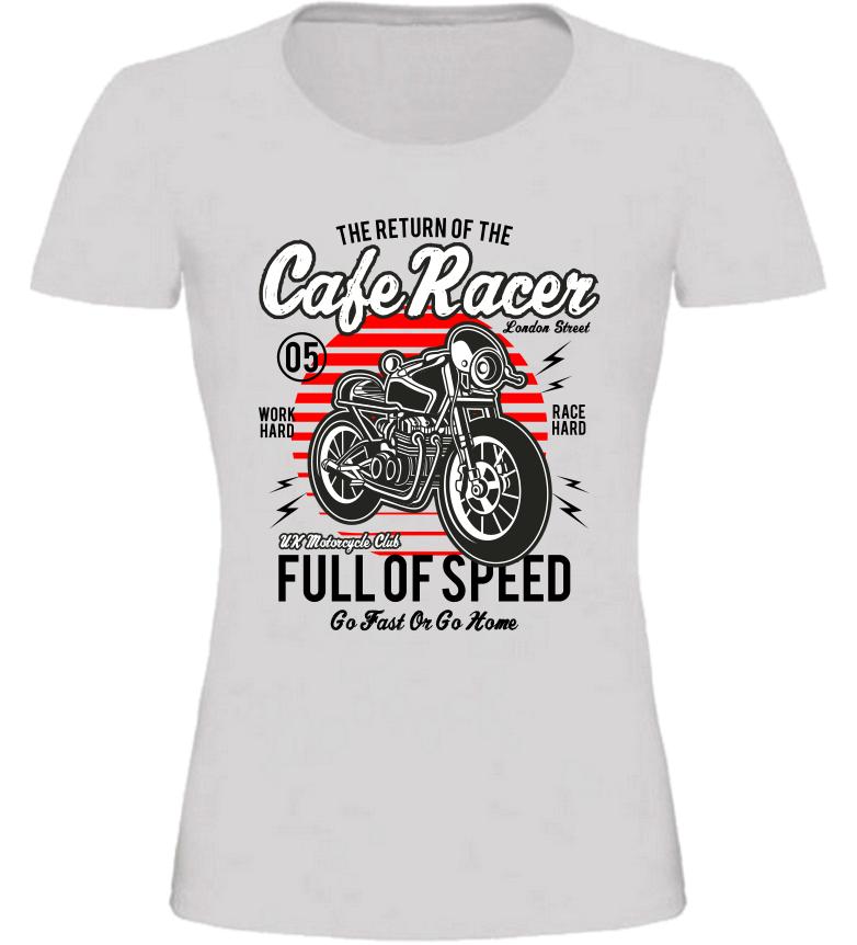 Dámské motorkářské tričko Full of Speed šedé