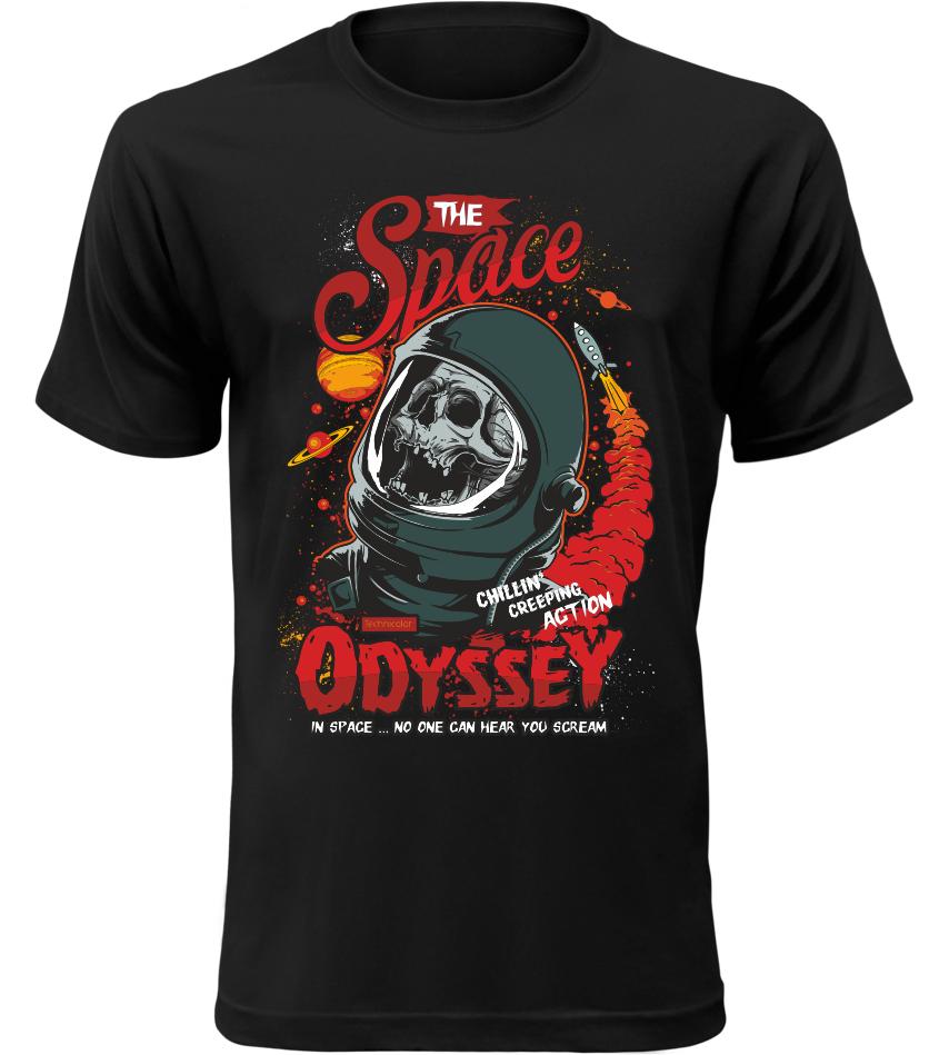 Pánské tričko Space Odyssey černé
