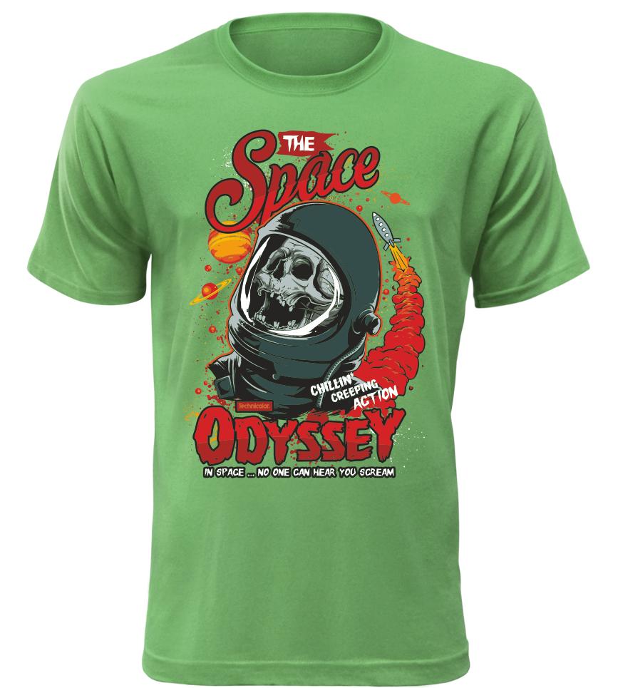 Pánské tričko Space Odyssey zelené