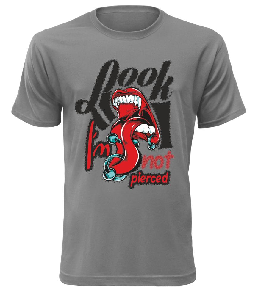 Pánské stylové triko Look šedé  4acbf1863a