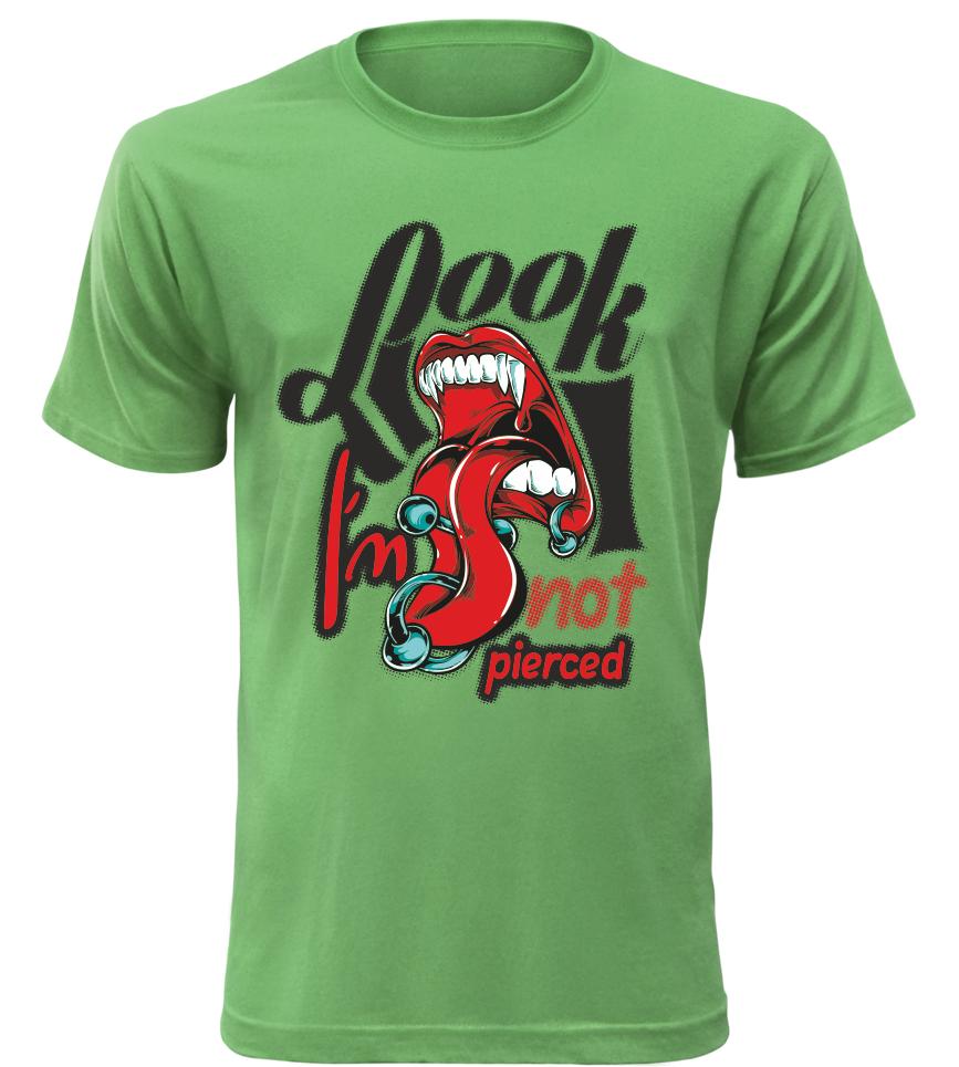 78c64bf47 Pánské stylové triko Look zelené | Kvalitní trička s potiskem