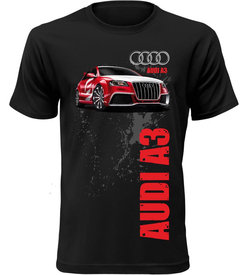 Pánské tričko Audi A3 černé