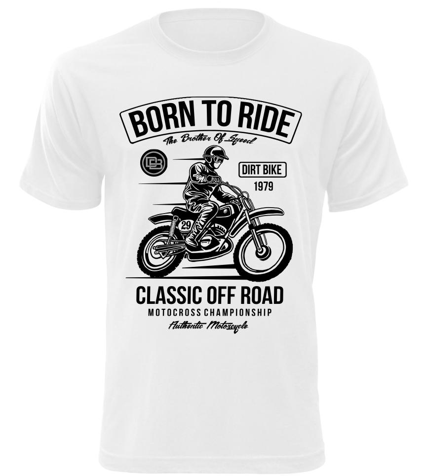 Pánské tričko Classic off Road bílé