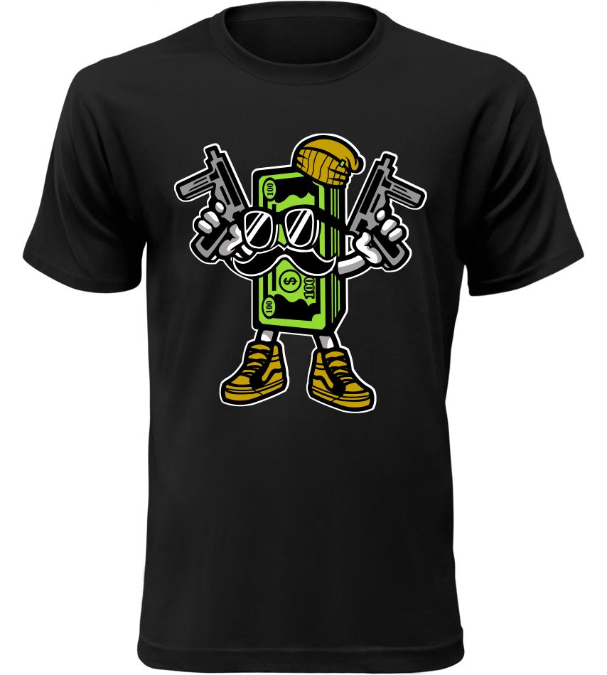 Pánské tričko Money černé  b16835e24d5