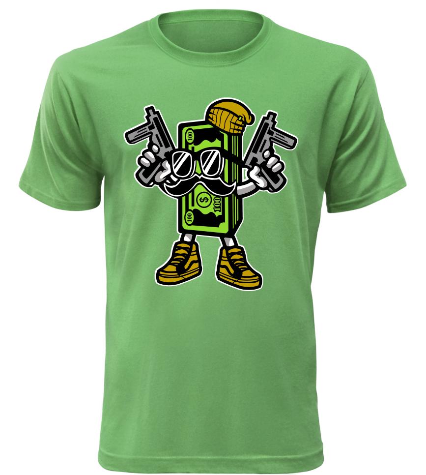 Pánské tričko Money zelené