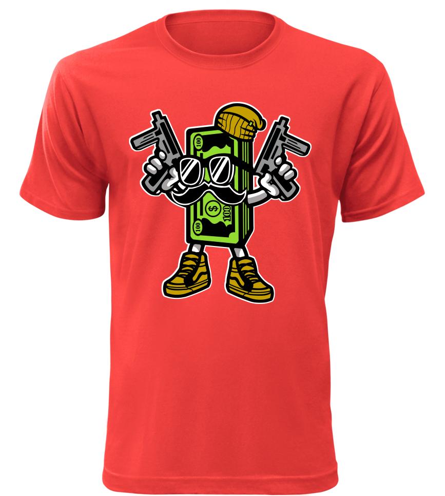 Pánské tričko Money červené  67858c5d75f