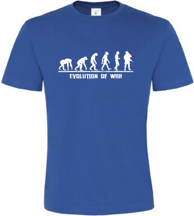 Evolution Of WAR pánské modré tričko