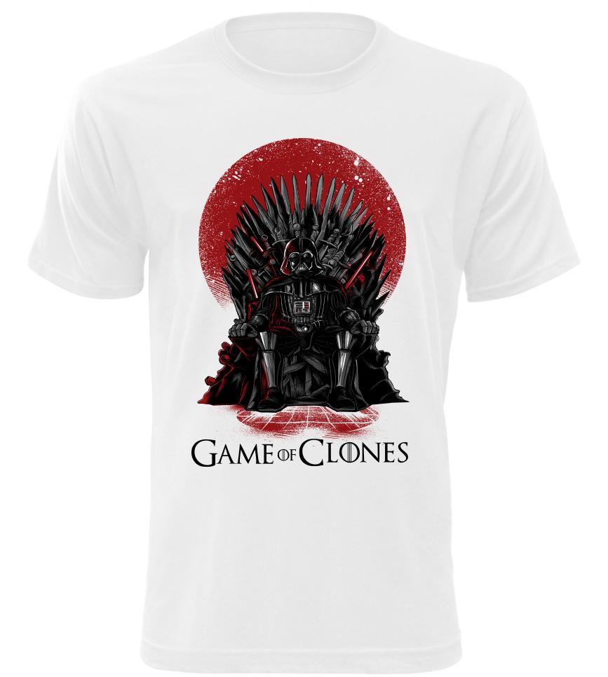 Pánské tričko Game of Clones bílé