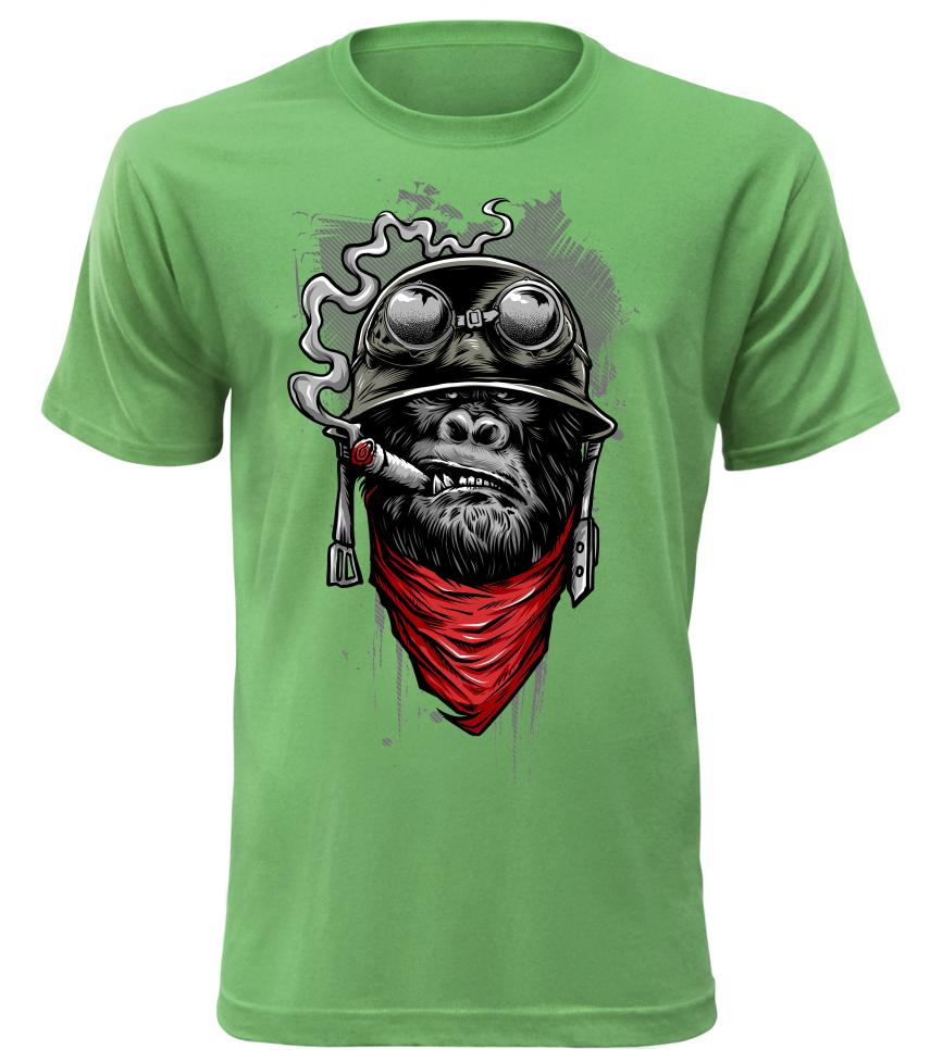 Pánské tričko Ape of Duty zelené