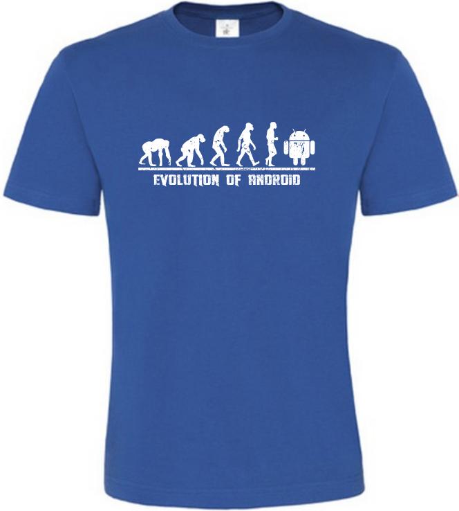 Evolution Of Android pánské modré tričko