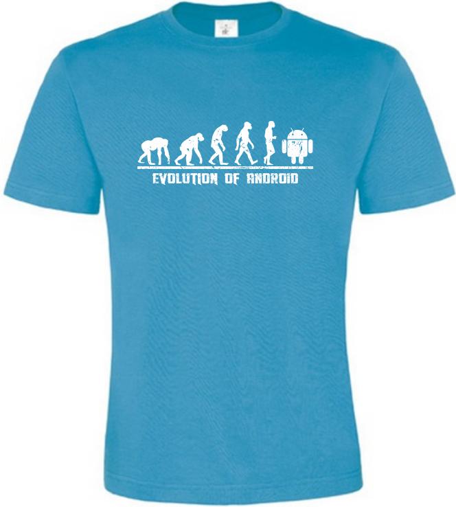 Evolution Of Android pánské atoll tričko