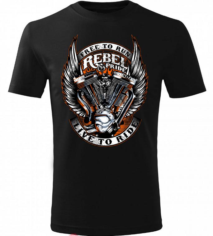 Dětské tričko Rebel černé  001004489b