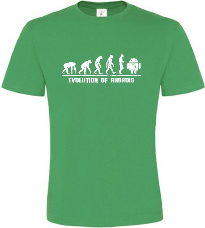 Evolution Of Android pánské zelené tričko