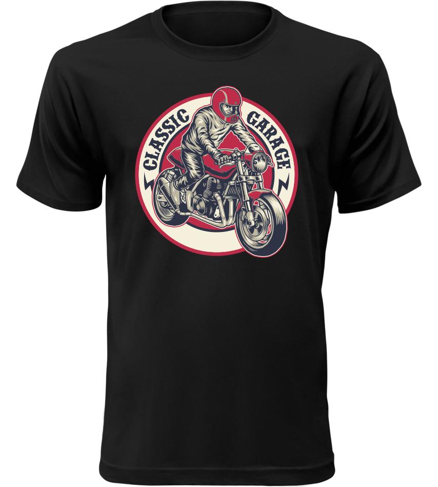 Pánské tričko Classic Garage černé