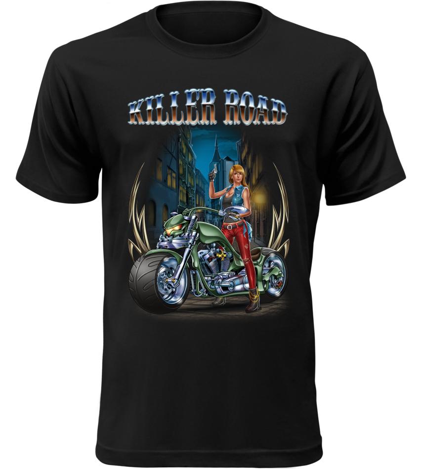 Pánské tričko Killer Road černé