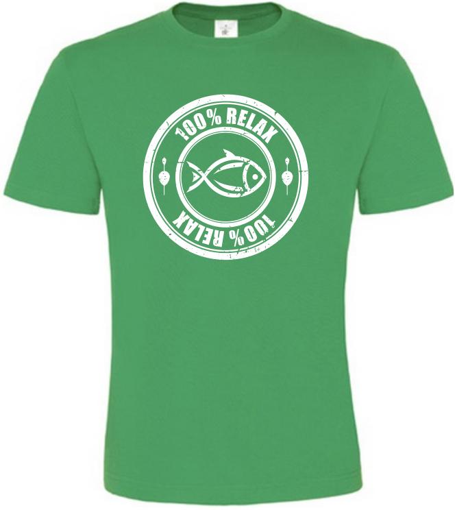 100% Relax Carp zelené tričko pánské