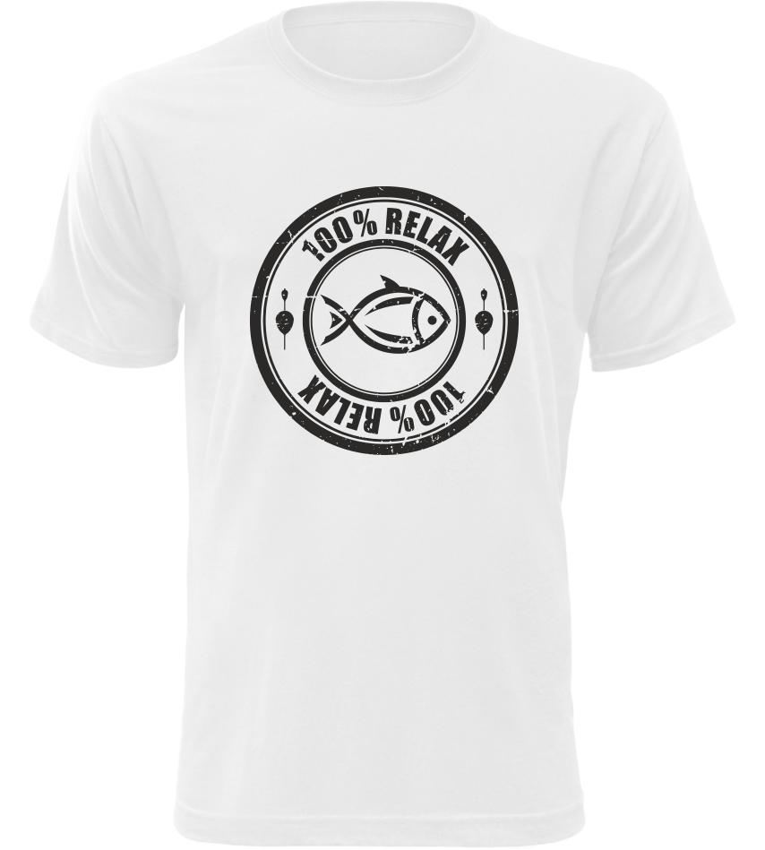 100% Relax Carp bílé tričko pánské