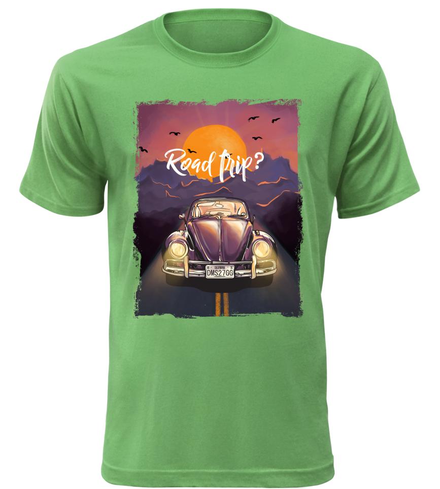 Pánské tričko Road Trip zelené