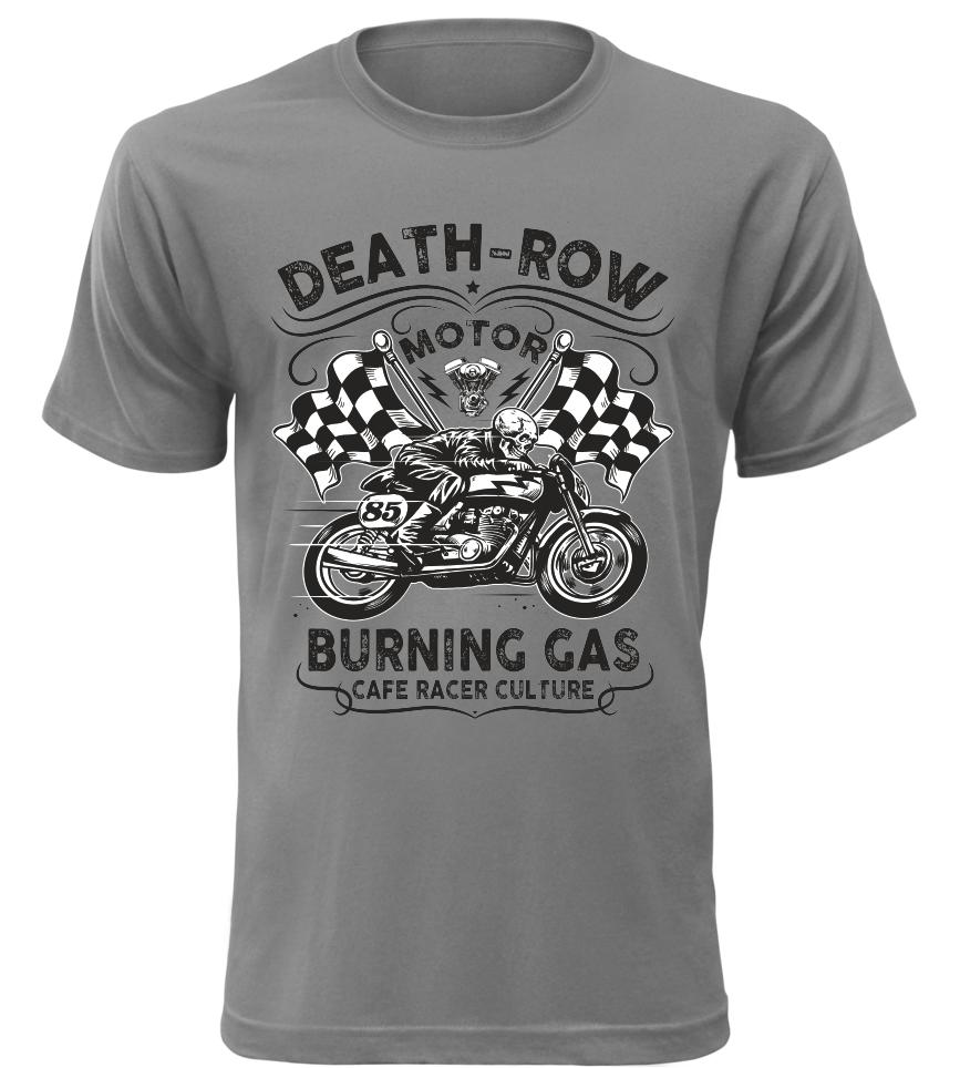 Pánské motorkářské tričko Death Row šedé