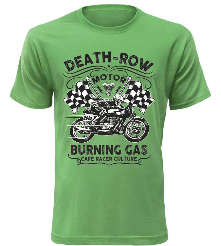 Pánské motorkářské tričko Death Row zelené