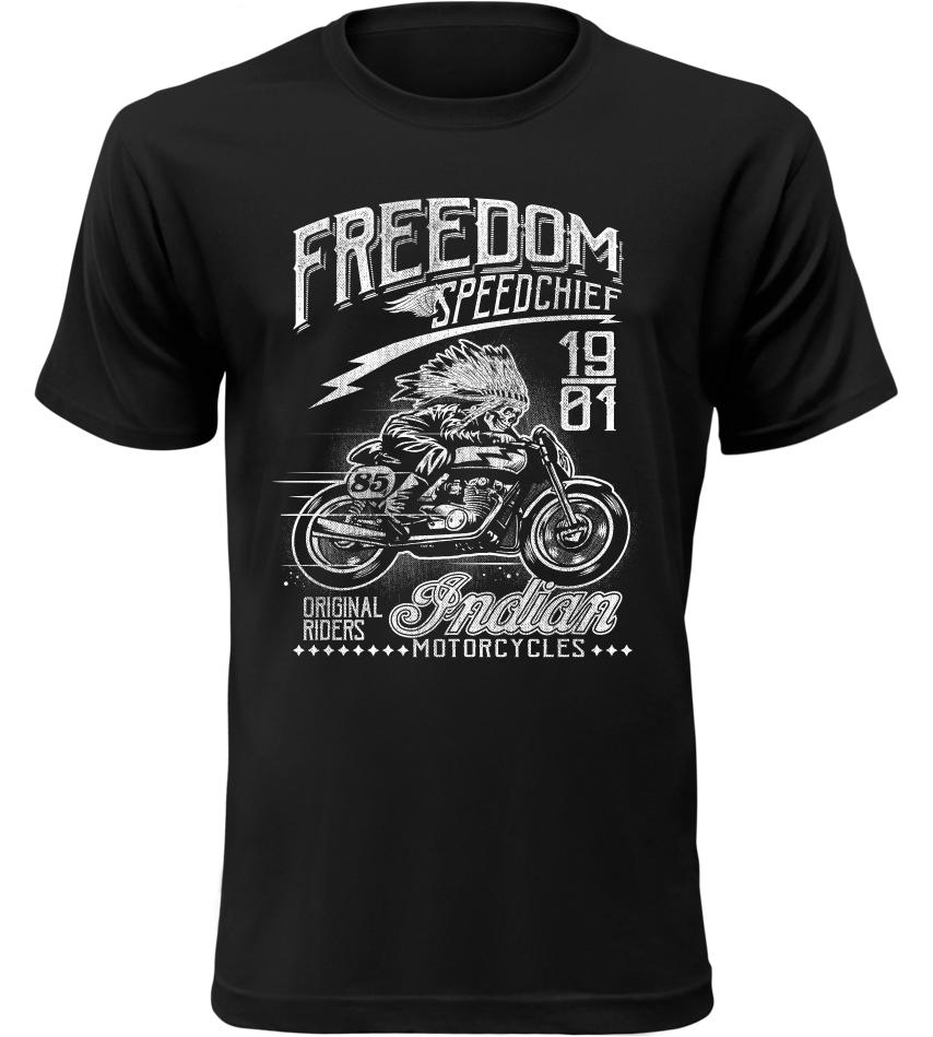 Pánské motorkářské tričko Speedchief černé