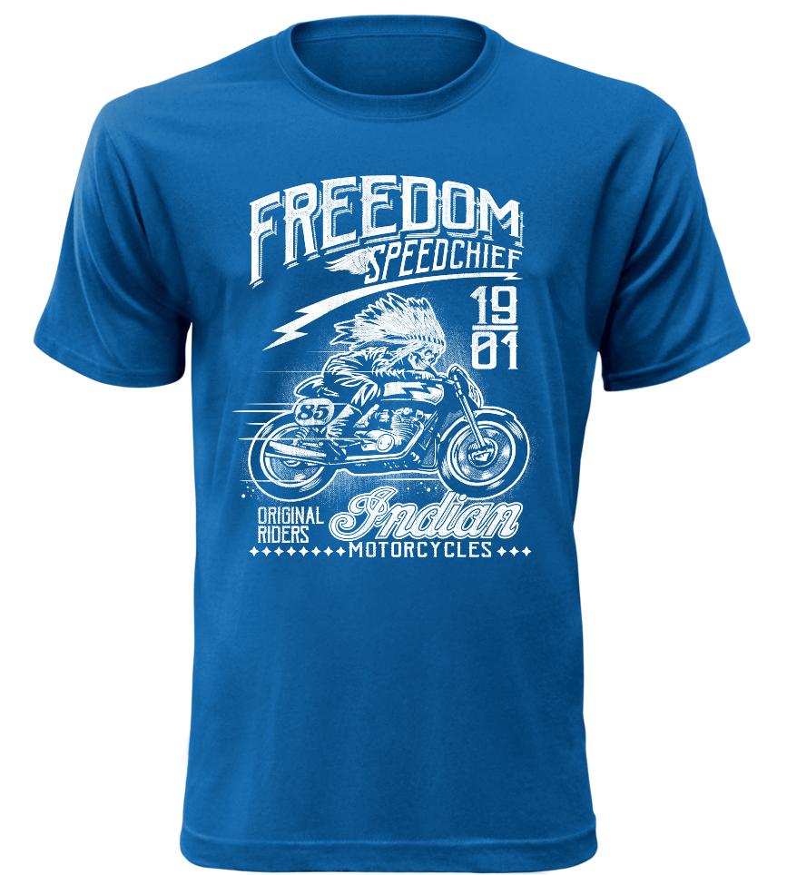 Pánské motorkářské tričko Speedchief modré