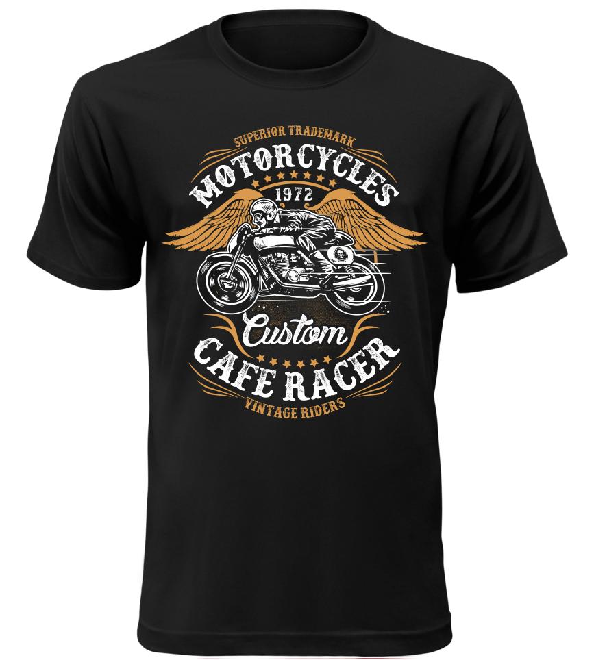 Pánské motorkářské tričko Vintage Riders černé