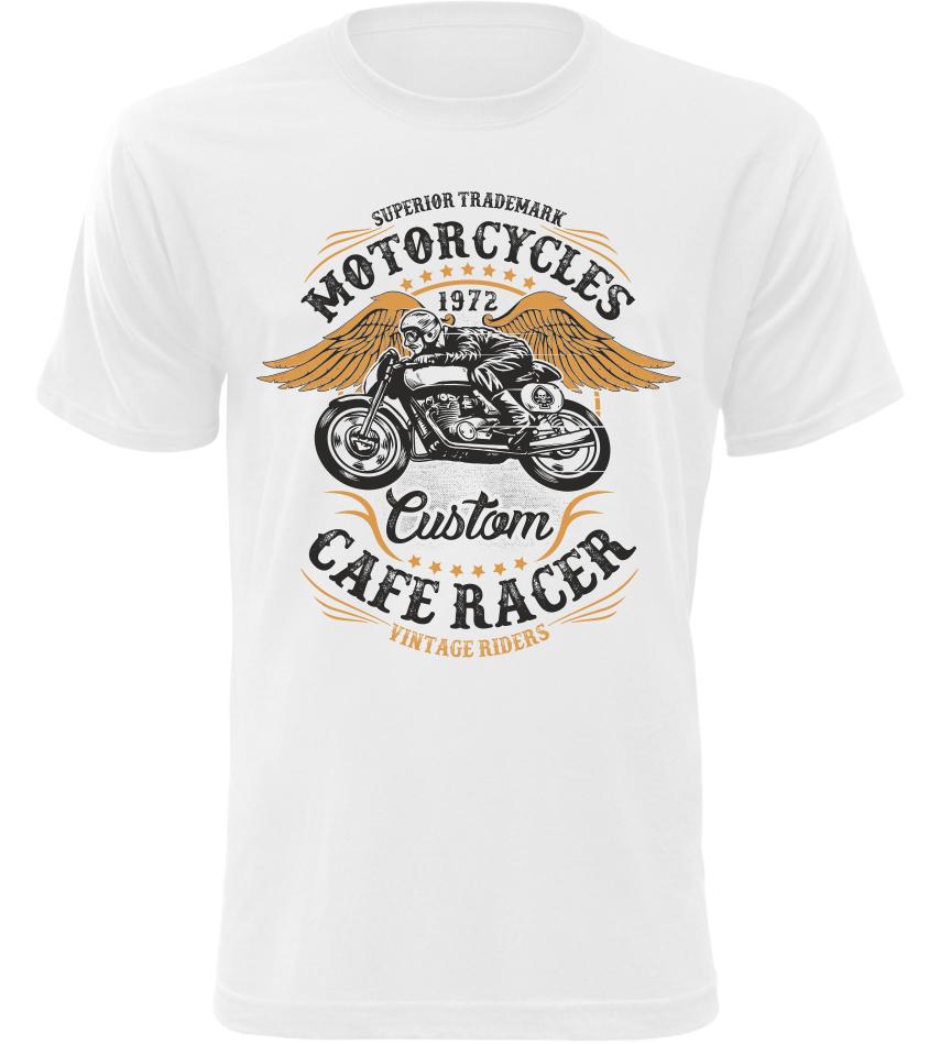 Pánské motorkářské tričko Vintage Riders bílé