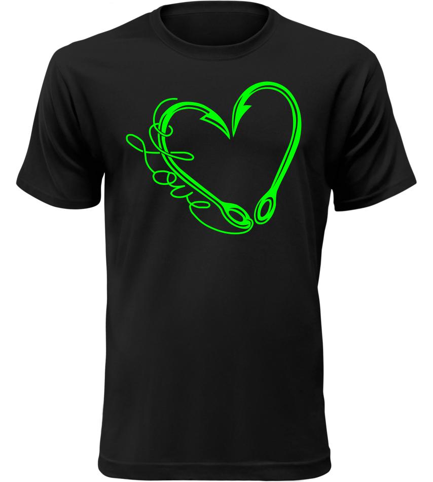 Pánské tričko pro rybáře miluji rybolov černé